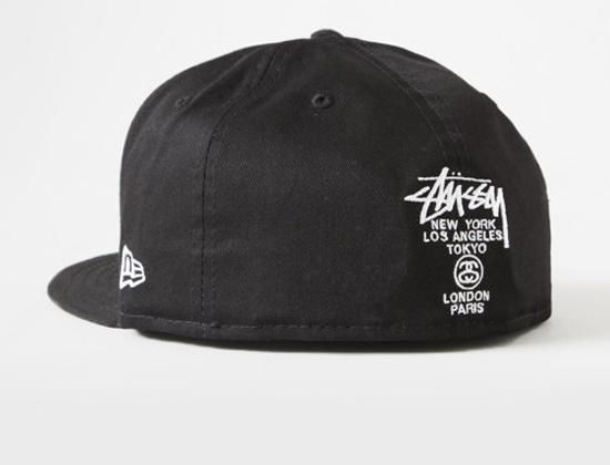 3b079d7e6924c4 Black FA15 SS Link 59Fifty Fitted Cap by STUSSY x NEW ERA | Streetwear  Fitted Baseball Caps | Fitted caps, Cap, New era hats