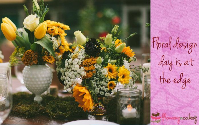 This #floral #design day go wild about #flowers and let your inner creativity spark..