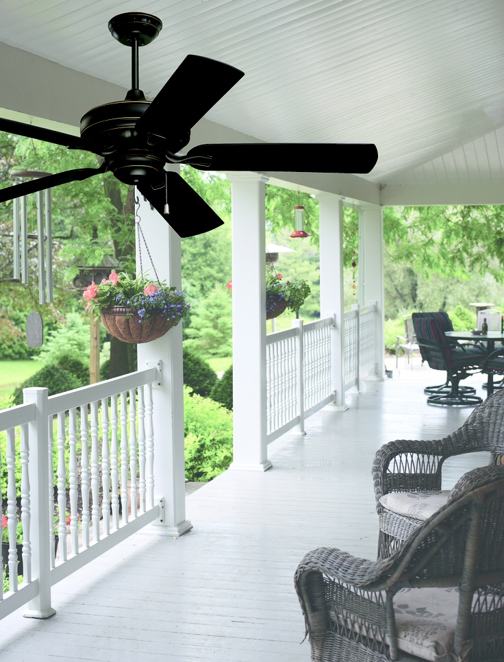 With its wet location rating, Veranda ceiling fan is