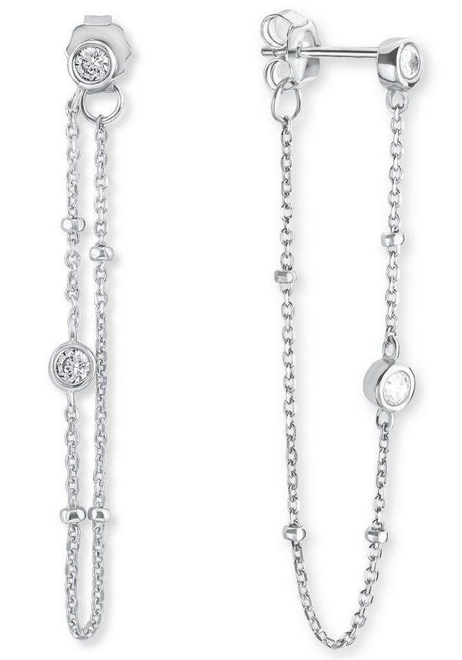 s.Oliver RED LABEL Paar Ohrstecker »2015111«, mit Zirkonia für 49,99€. Interessant gestaltete Ohrringe, Aus rhodiniertem Silber 925 bei OTTO