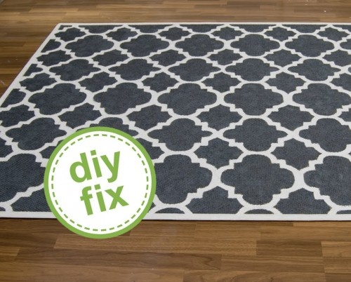 painting a rug... although I think it would be easier to paint the cream background first and then do the black stencil over... saves much time! #DIY