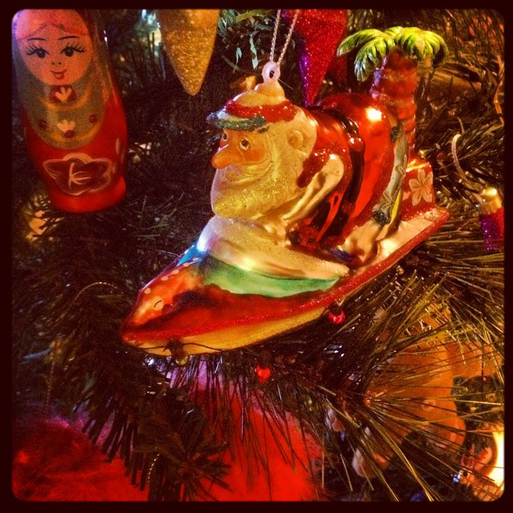 Santa in a speedboat of course