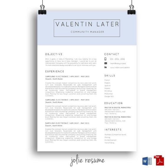 Printable resume templates for mac.