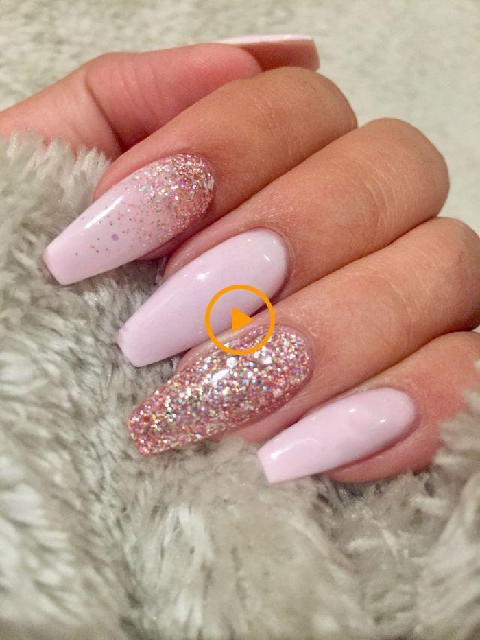 Pin by Sue ZQ on Nails | Long nail designs, Pink nails