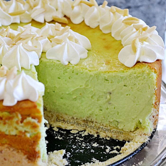 Pistachio Cheesecake | Tall, creamy and the perfect dessert for the pistchio lover in your family!