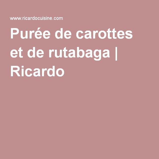Purée de carottes et de rutabaga | Ricardo