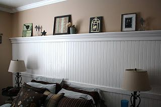 Beadboard Wall With Shelf Bedroom Pinterest Basement Plans Birthdays And Guest Rooms
