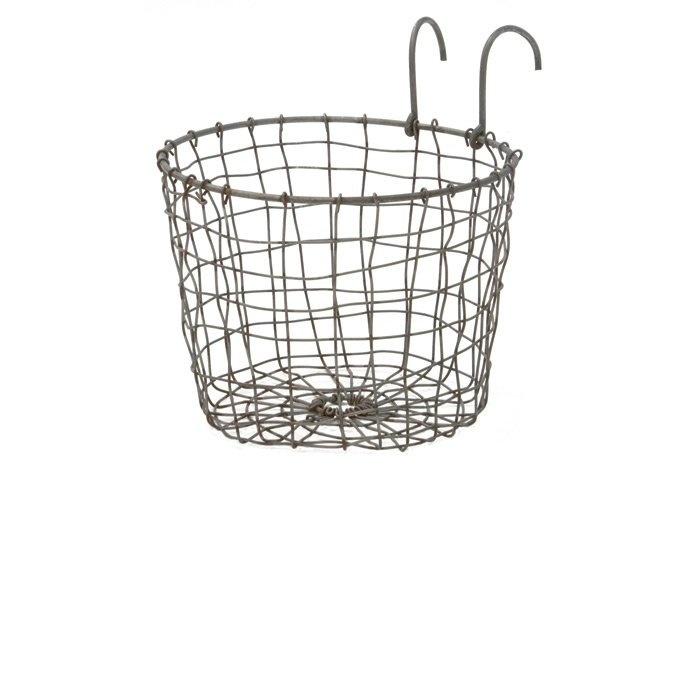 Korg,rund, av zinktråd, m. hängare  125kr