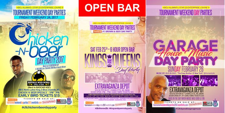 #XQZT #EVENTS #PROMO //  2017 #CIAA TOURNAMENT WEEKEND DAY PARTIES ☀️️ :http://xqzt.net/main/xqzt-events-promo-2017-ciaa-tournament-weekend-day-parties/