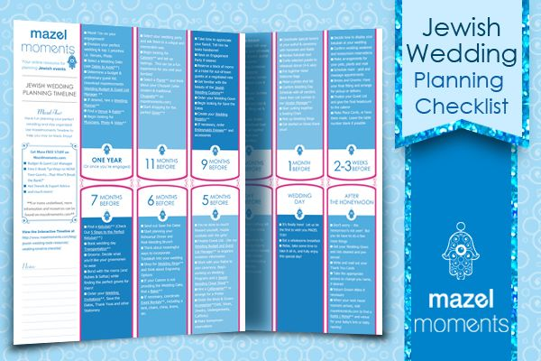 Jewish Wedding Planning Timeline & Checklist - mazelmoments.com