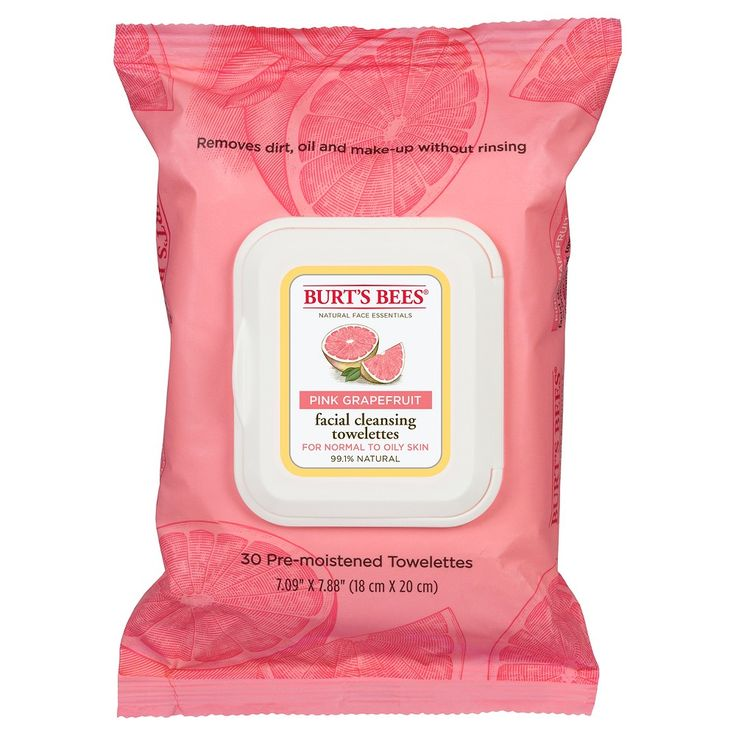 Burt's Bees Facial Cleansing Towelettes Pink Grapefruit 30 ct