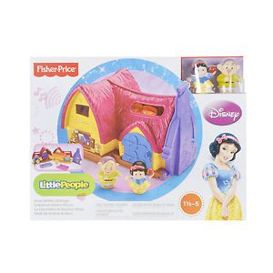 Fisher-Price Little People Snow White's Cottage Playset Girls Toy Age 18m - 5yrs