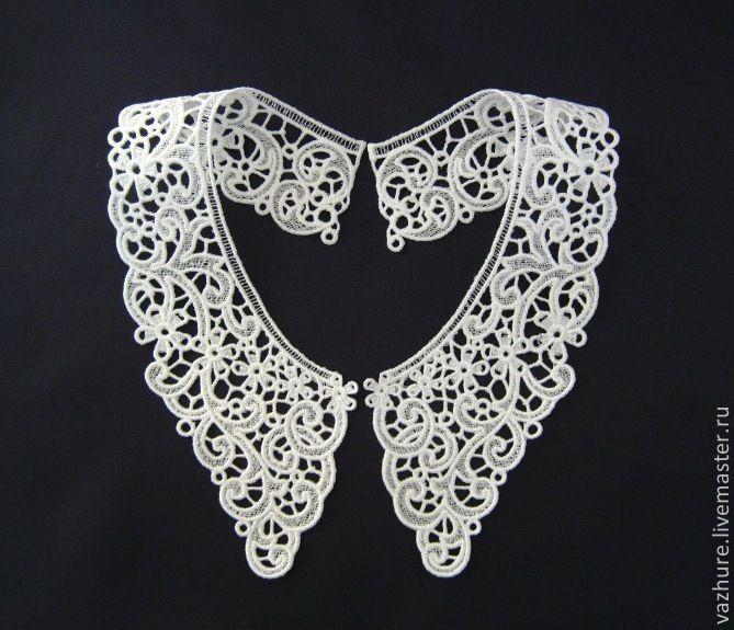 Купить Воротничок№24. - белый, орнамент, воротничок, воротник, воротничок ажурный, Воротничок кружевной, кружево