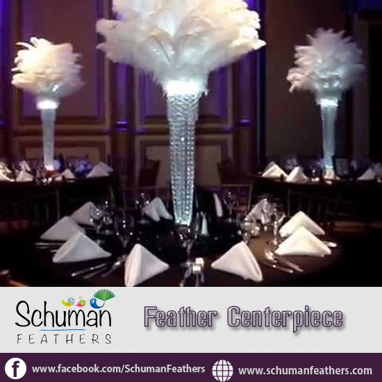 Feathercenterpieces hottest decoration trend in today s