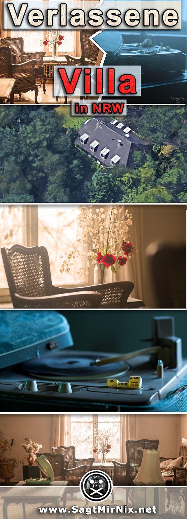 Lost Place: Alte Villa in NRW - ehemals wohnte ein wohlhabender Stahlwerksdirektor von Krupp in dem prächtigen Haus, nun steht das verlassene Gebäude seit 40 Jahren leer. Die Fotos unserer letzten Urban Exploration- bzw. Urbex-Tour. Verlassene Orte in NRW.
