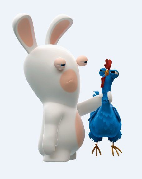 Rabbit vs Chicken. Who's the winner? XD