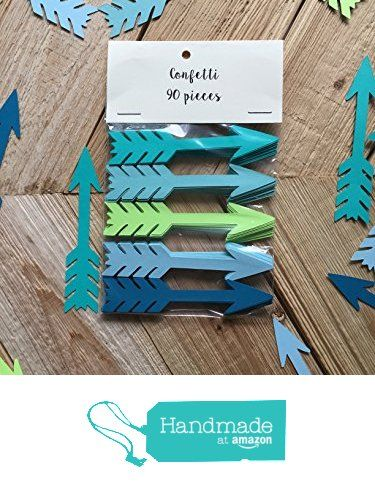 "Blue Aqua LimeCardstock Arrow Confetti - Tribal Baby Shower - Tribal Birthday Decor - Table Decor - 3.6"" long die cut cardstock confetti - 90 Pieces from DearOliva https://www.amazon.com/dp/B01G0Y8B0K/ref=hnd_sw_r_pi_dp_Oczyxb65TVG4J #handmadeatamazon"