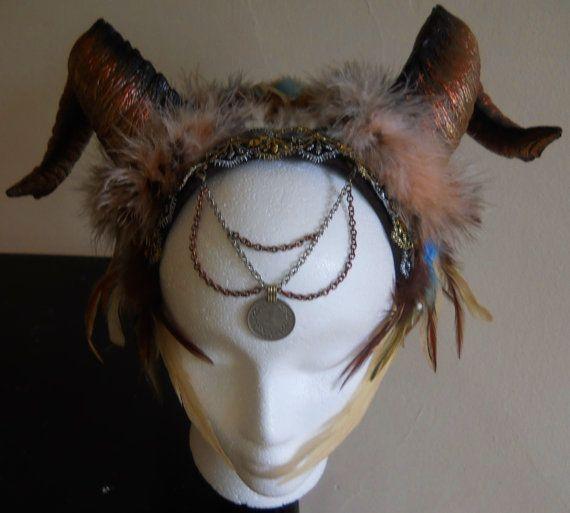 Gaia Shaman Tribal Headdress RESERVED for YOKO by ShivasTemple, $42.50
