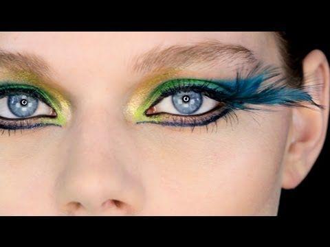 Lisa Eldridge's makeup tutorials - Showgirl/Fantasy Peacock Eyes. Very kool. Could be a great Crop Over look!