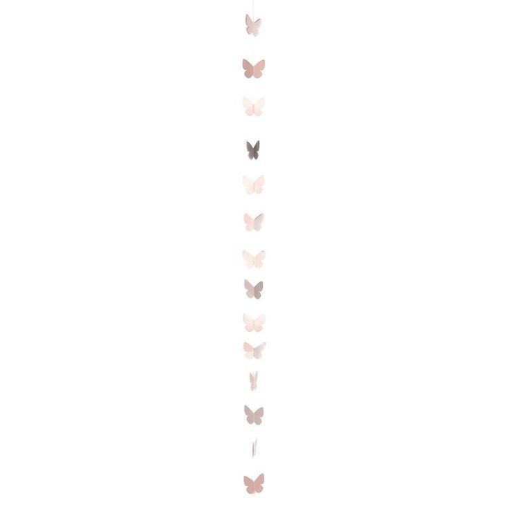 Girlande Schmetterlinge altrosa ca L:100 cm