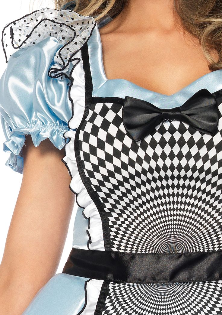 Leg Avenue Womens Hypnotic Miss Alice Costume Blue/Black