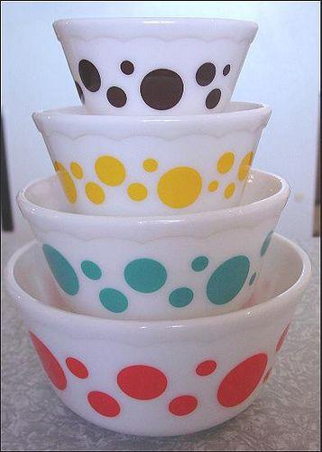 Polka dot bowls!