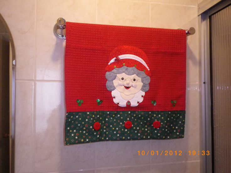 Toalla decorativa de navidad.