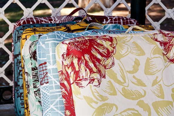 Screenprinted and eco-friendly dog beds from www.hund.co.za