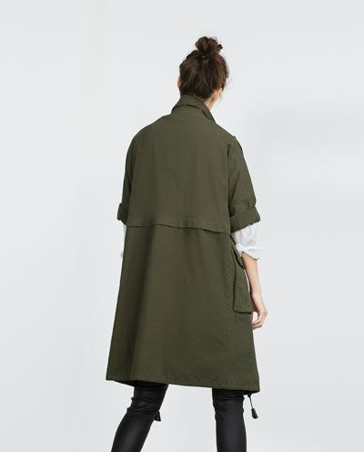 Image 3 of PARKA WITH ROLL-UP SLEEVES from Zara