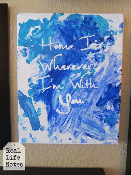 Fingerpainted Canvas Art Kids Craft Toddler Crafts For Mamas Pinterest And