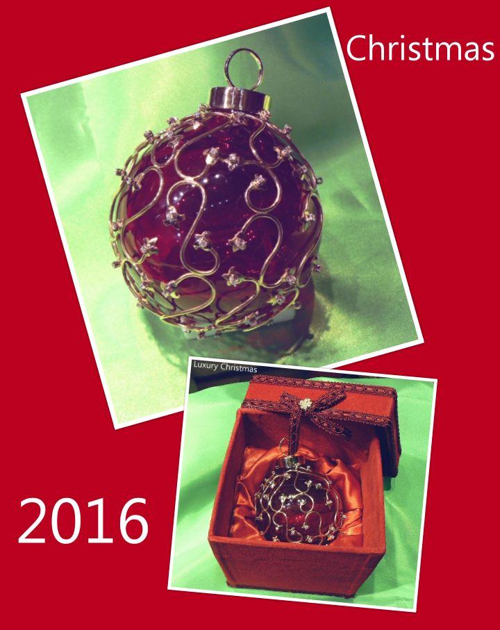 Christmas ball luxury version - Gold, diamonds Murano glass handmade by Dogale Jewellery Venice Italia - Giorgio Berto