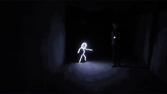 LED Stick Figure Costume, gizmodo: Royce Hutain, of Huntington Beach, made a stick figure light suit out of LED lights and Velcro for his daughter. #Halloween #Costume #LED