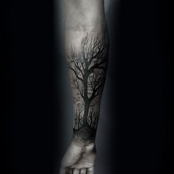 60 Forearm Tree Tattoo Designs For Men   tatuajes | Spanish tatuajes  |tatuajes para mujeres | tatuajes para hombres  | diseños de tatuajes http://amzn.to/28PQlav
