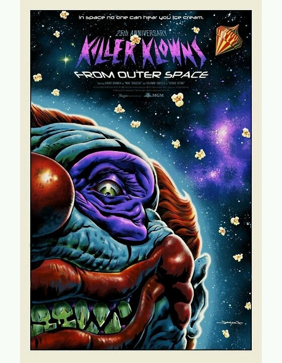 22 best images about killer klowns from outer space on for Outer space poster design