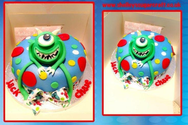 Jacks 2nd birthday...Monsters Inc by Shelley's sugar craft.