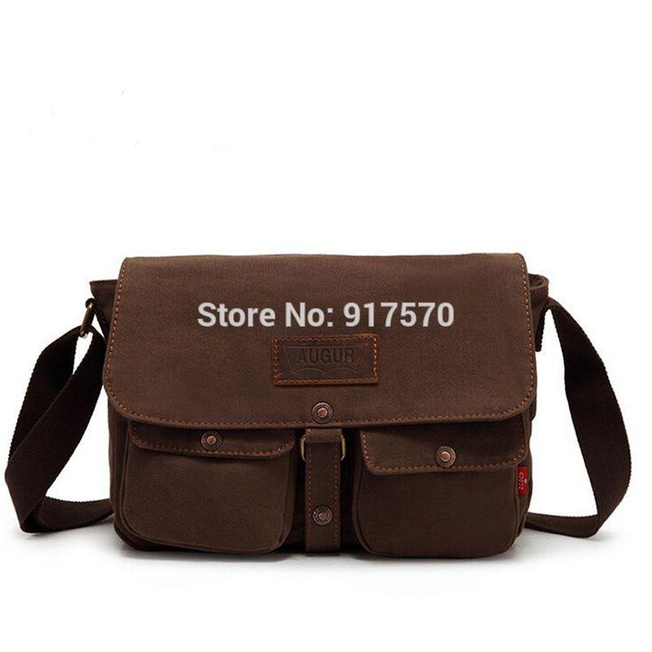 Alta qualidade Mens sacos do mensageiro Canvas Vintage Crossbody Satchel Shoulder dos homens escola BookBag Bag For Men frete grátis alishoppbrasil