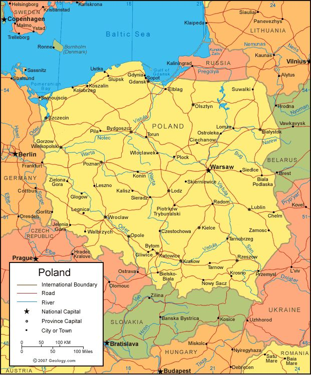 map of poland | satellite image of poland maps of other countries where is poland