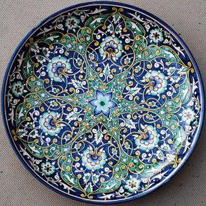 Ornate stoneware plate from Uzbekistan (via Uzbekistan   Decorative Plates)