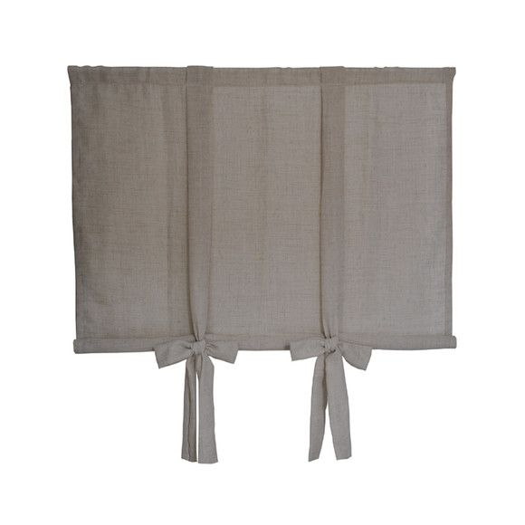 """***DESCRIÇÃO: Cortina Rolô Manual em linho rústico bege, com faixas que formam um lindo laço para regulagem da altura da cortina!  Possui abertura na barra inferior que serve para inserir um varão fino (opcional), para a cortina ficar reta na parte de baixo. Se quiser deixá-la mais soltinha, é só não colocar o varão na barra inferior. (Varões não inclusos)  ***ESCOLHA O TECIDO NO ÁLBUM """"TECIDOS"""": Esta cortina também pode ser feita em tecido 100% algodão estampado, gabardine branco ou creme…"""