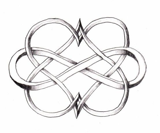 Infinity double heart - love this for a tattoo design