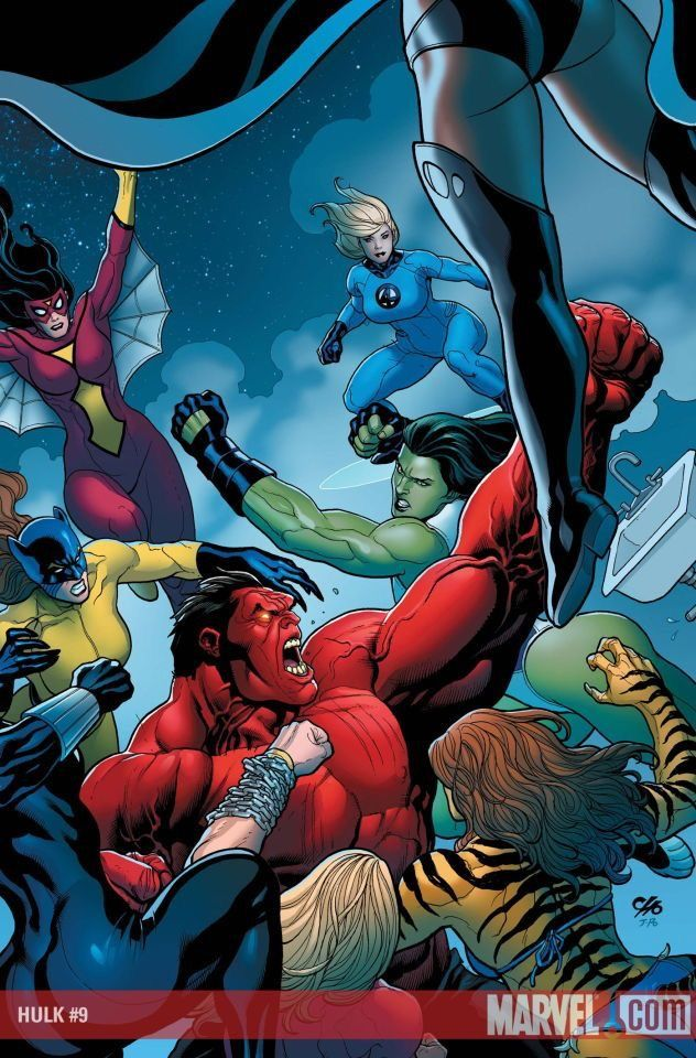Hulk Vermelho vs. A-Force.