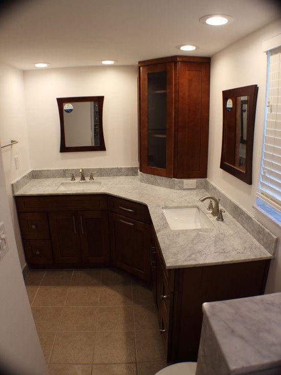 Bathroom Vanity , 12 Fabulous L Shaped Bathroom Vanity : Good Custom  Bathroom Vanities
