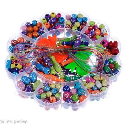 "JP 1Box Intelligence Beads Kids DIY Jewelry Sets Children Crafts 15.5(6 1/8"")"