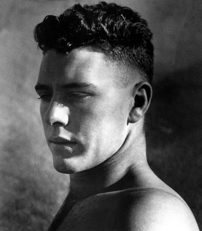 Portrait of a young man in sunlight, 1936