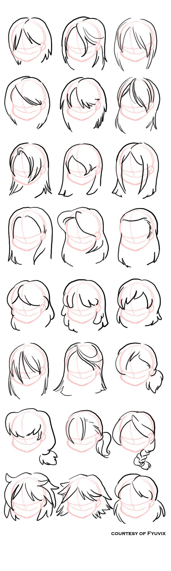 Hairstyles- Straight by =fyuvix ✤ || CHARACTER DESIGN REFERENCES | Find more at https://www.facebook.com/CharacterDesignReferences if you're looking for: #line #art #character #design #model #sheet #illustration #expressions #best #concept #animation #drawing #archive #library #reference #anatomy #traditional #draw #development #artist #pose #settei #gestures #how #to #tutorial #conceptart #modelsheet #cartoon #hair