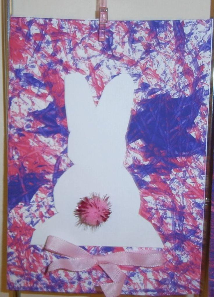 velikonoční přáníčko - podklad - kuličky- barva
