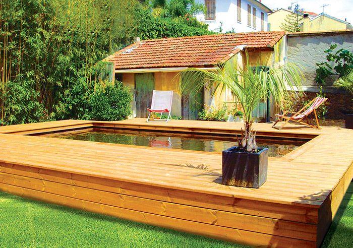 Les 25 meilleures id es de la cat gorie terrasse sur lev e sur pinterest piscine resine - Bassin terrasse en bois l caen ...