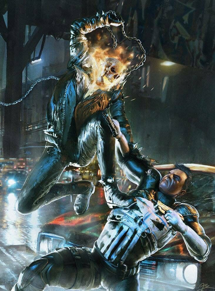 Ghost Rider vs the Punisher