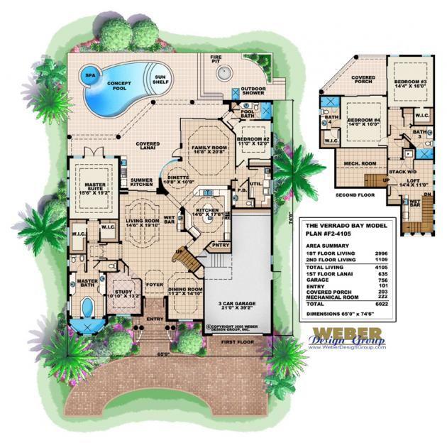 Bay House Plans 107 best mediterranean house plans images on pinterest | home