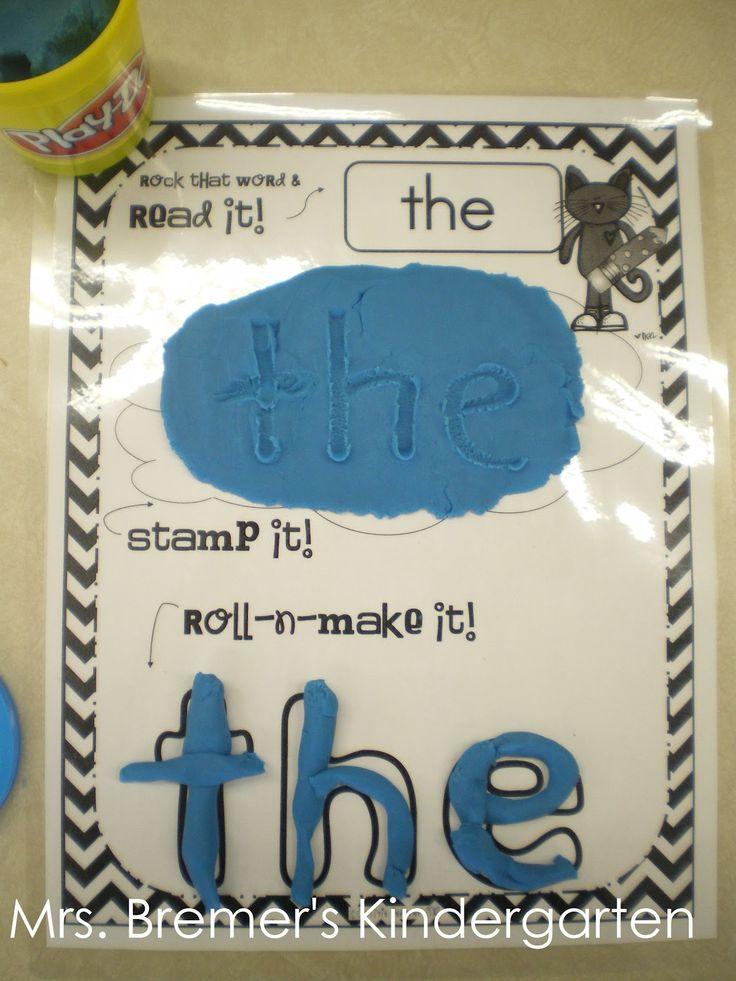 playdough sight word activity